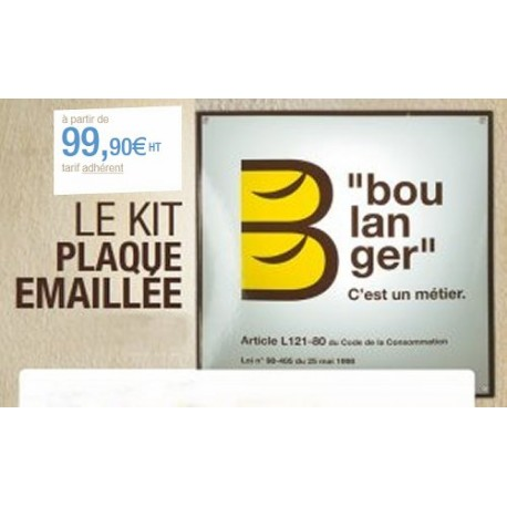 KIT PLAQUE EMAILLE NON ADHERENT