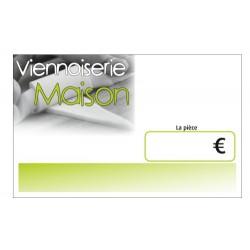25 ETIQUETTES PATISSERIE VIENNOISERIE MAISON GM 50X80 (PAR 25)