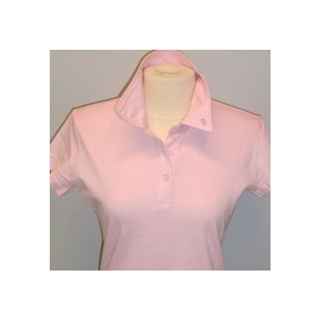POLO FEMME JERSEY PINK BRODE IB